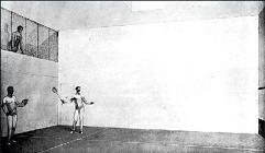 Court de squash sur le Titanic